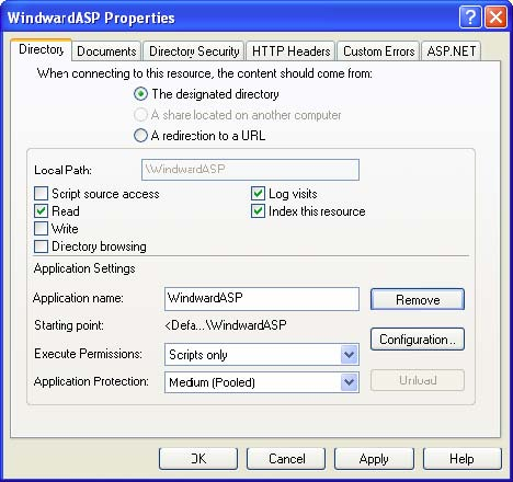 ASP properties