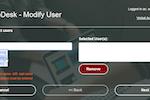 PortalGuard screenshot: Help Desk Username Lookup