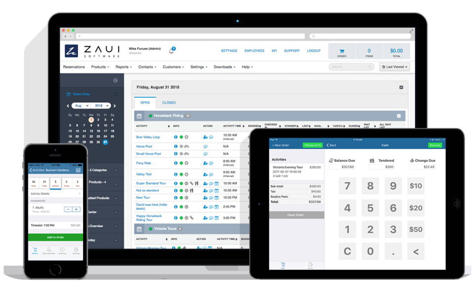 The reservation management solution can be accessed from mobile devices to manage tour and activity operations from anywhere