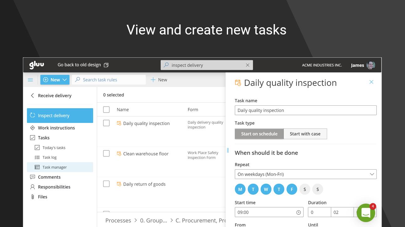 Gluu Software - Recurring task management