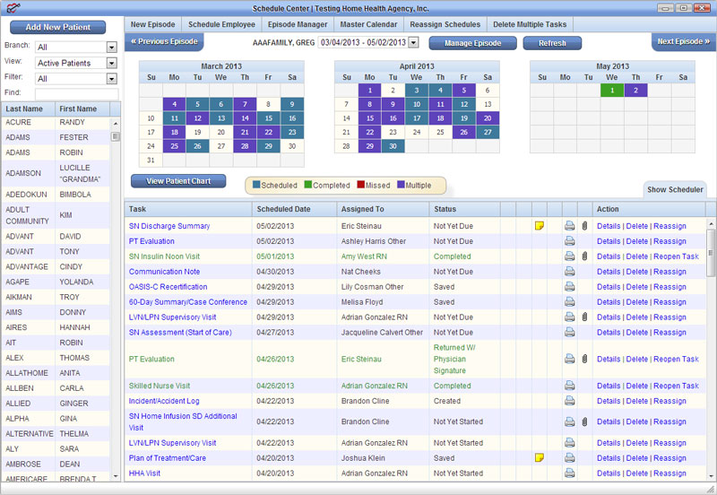 AgencyCore users can view and manage their calendars on-the-go and update their status.