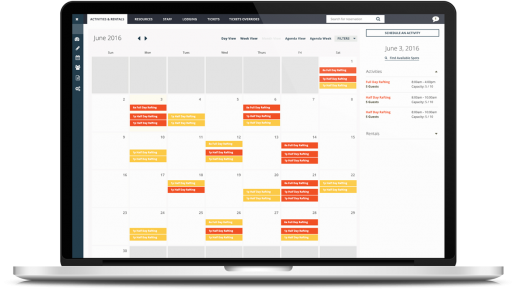 A fully customizable, static scheduling calendar can be edited and populated using drag and drop changes, while displaying real-time availability updates for inventory, staffing and resources etc
