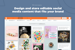 PromoRepublic screenshot: Design and store editable content that fits your brand