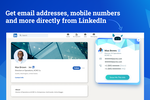 Captura de pantalla de Datanyze: Get contact information, including email addresses, direct dial and mobile numbers directly from LinkedIn profiles and company websites, without leaving your browser.