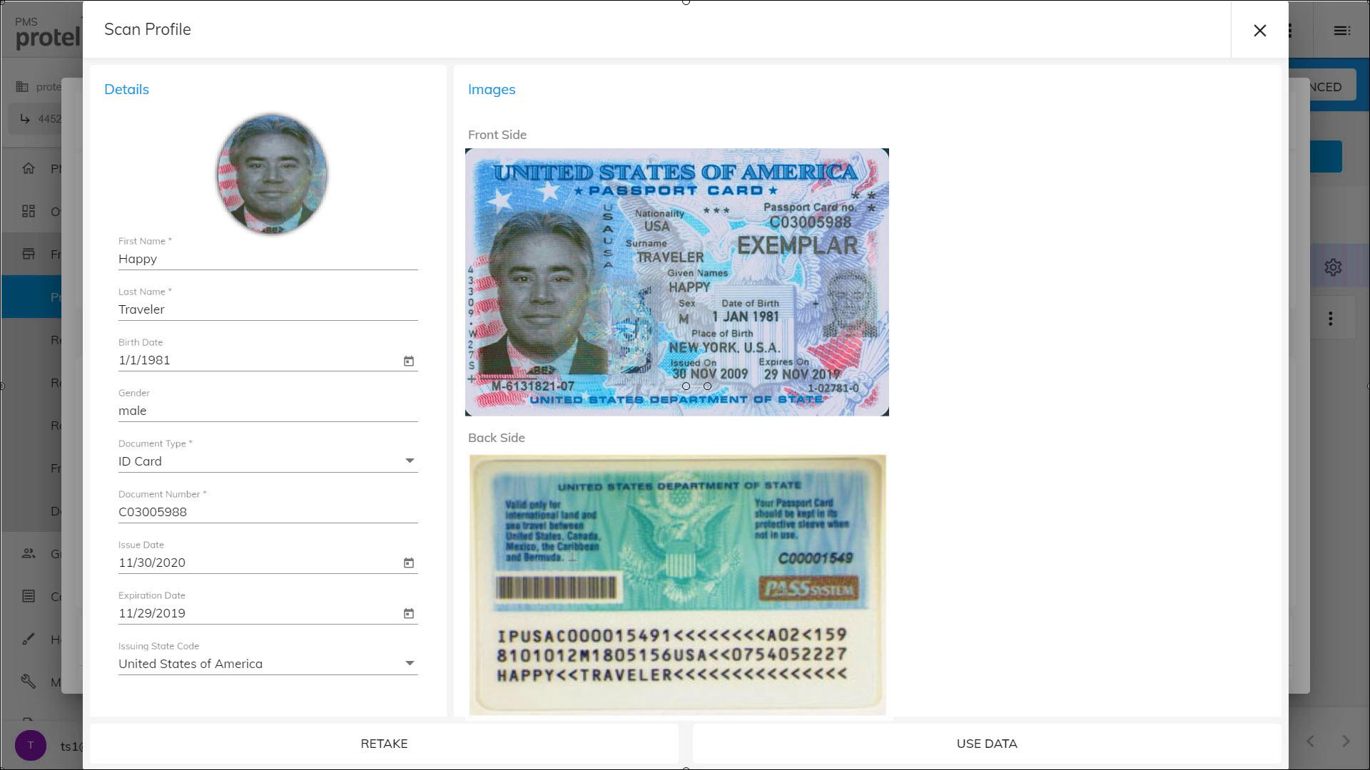 protel Air passport scan