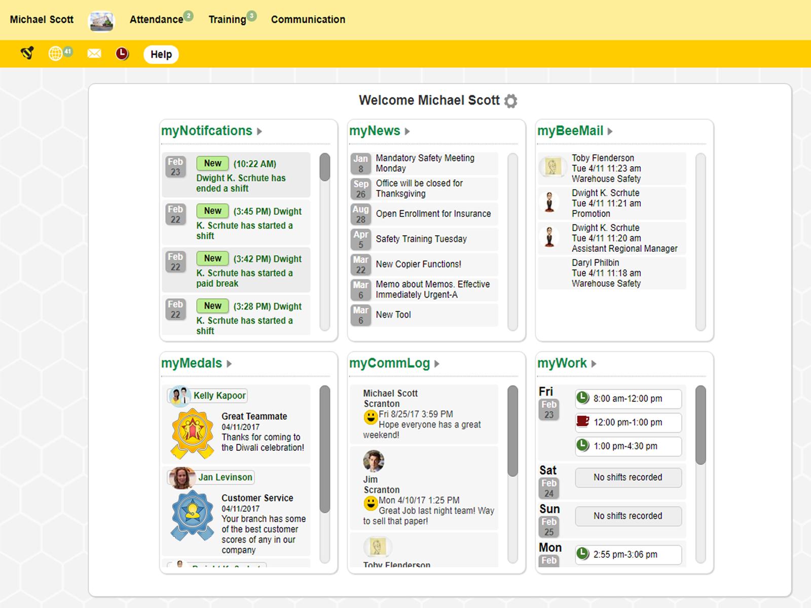 honeybeeBase - Dashboard