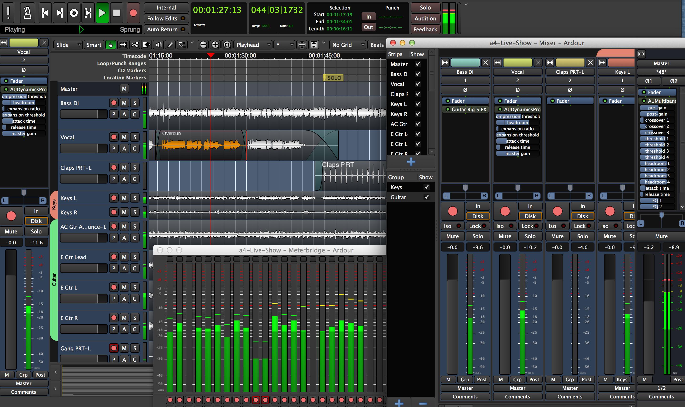 Ardour audio editing