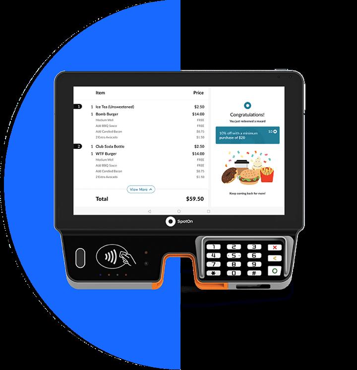 SpotOn Restaurant Software - SpotOn Touchscreen Point of Sale Station