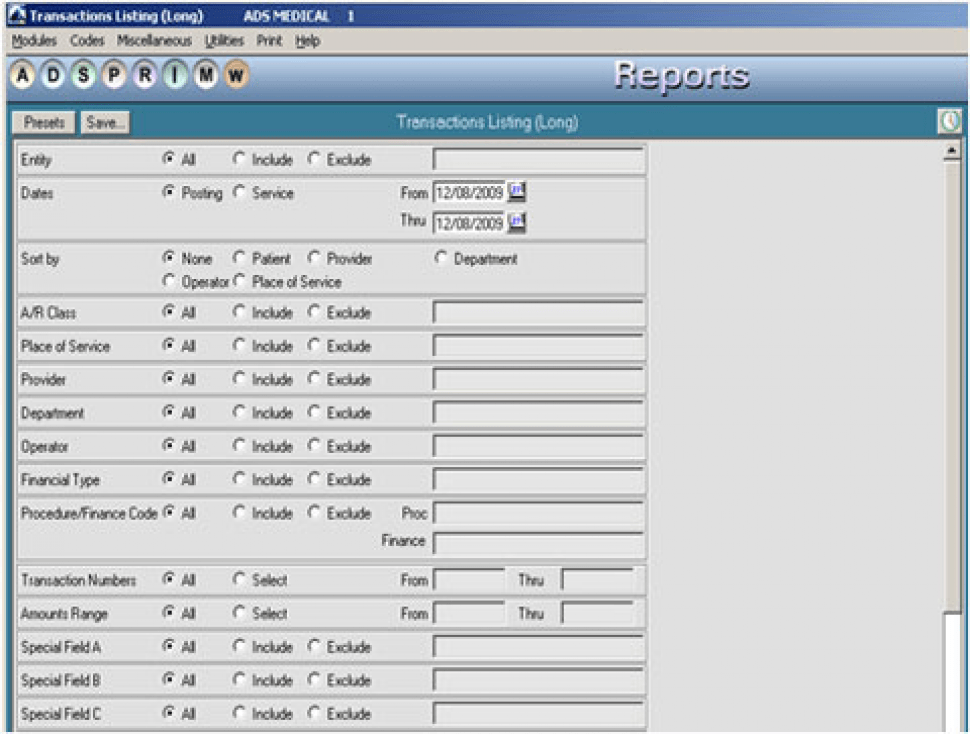 MedicsPremier Software - Reports