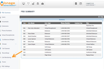 Vonage Business Communications screenshot: Vonage Business PBX (Private Branch Exchange) summary allows administrators to keep track of and edit feature plans