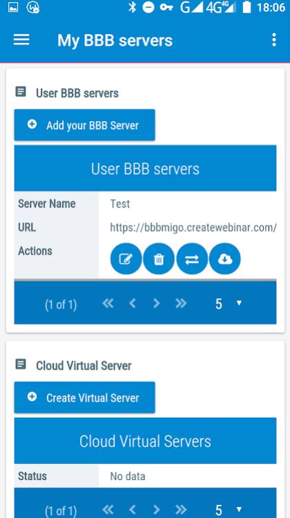 CreateWebinar BBB servers