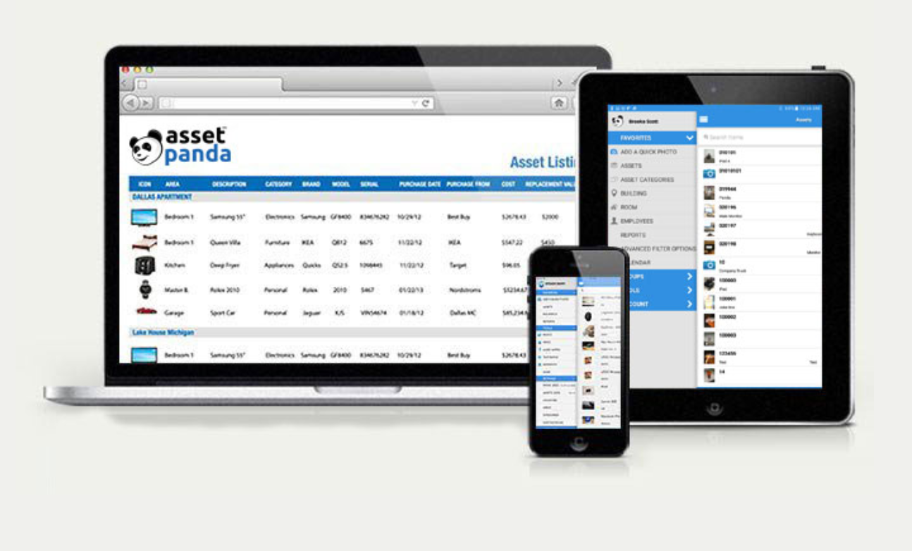 Access Asset Panda on any desktop, laptop, tablet or mobile device