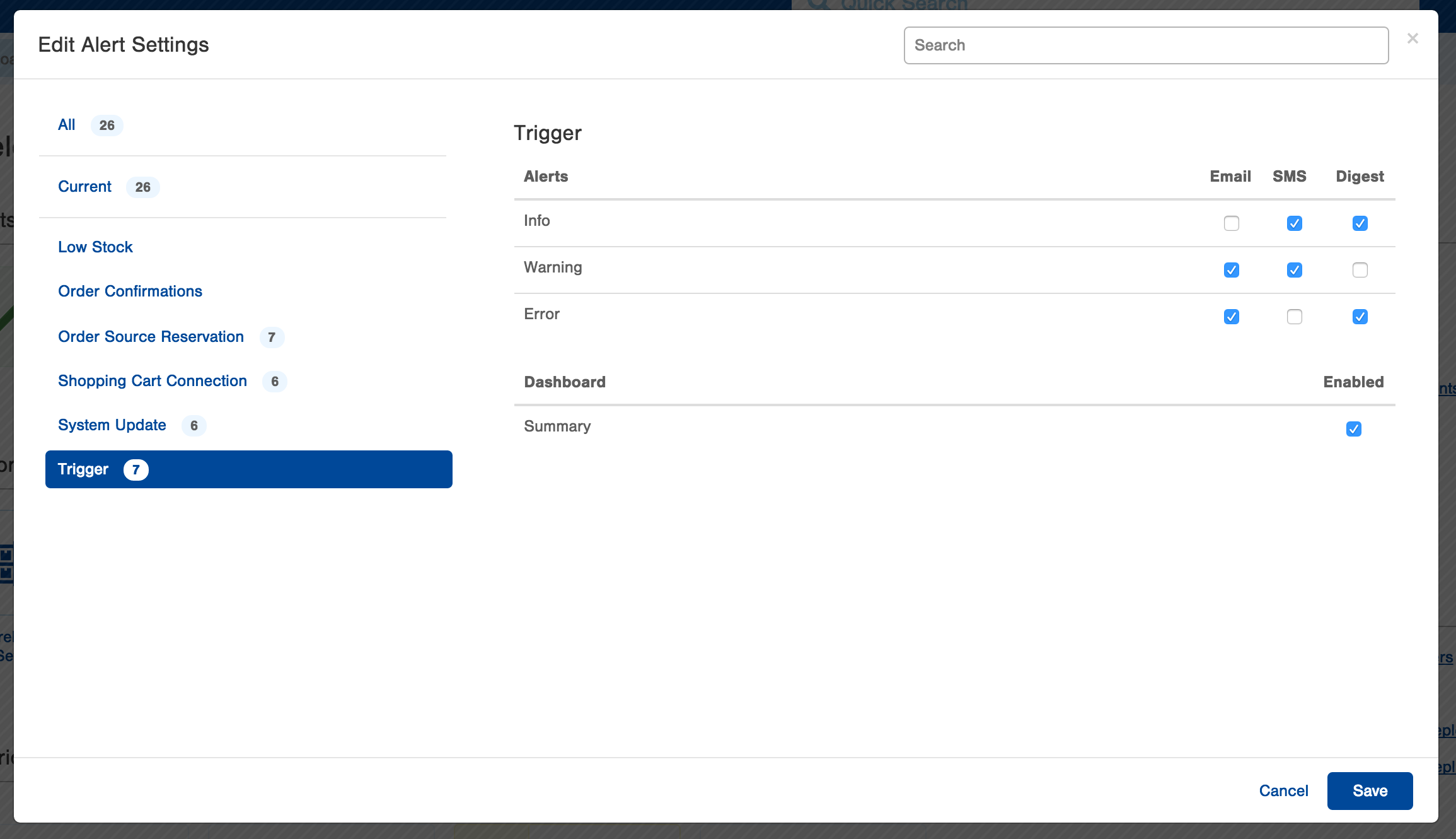 Users can configure event-triggered alerts