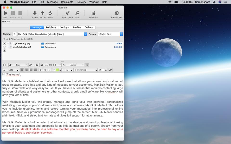 MaxBulk Mailer Software - 1