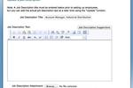 Reviewsnap screenshot: Update Job Description