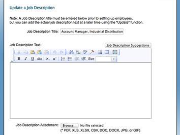 Update Job Description