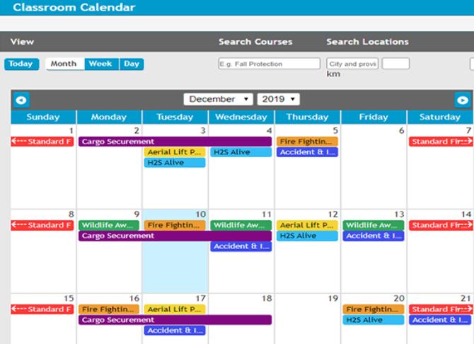BIStrainer calendar