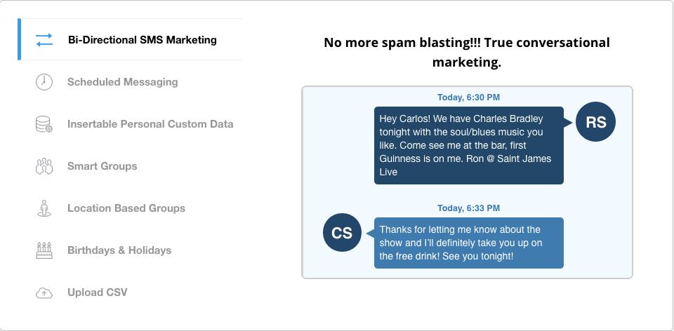 Bi-Directional SMS marketing