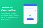 Channels screenshot: Make your LiveChat more versatile and offer Callback requests when the situation requires it.