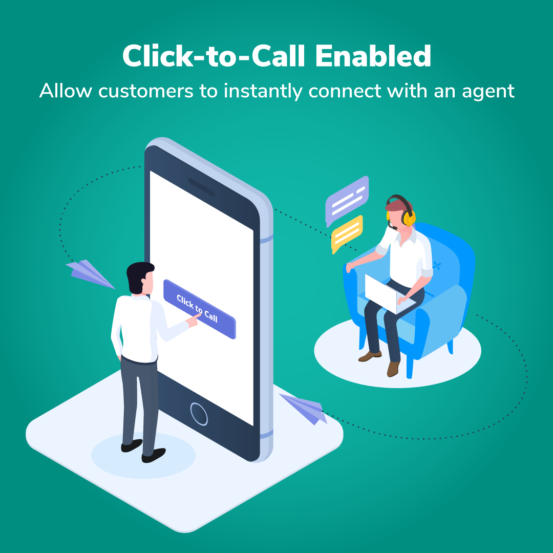 Click to call, cloud telephony, call insights