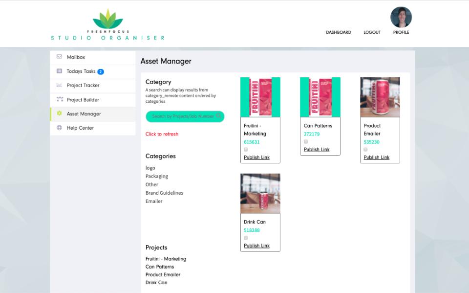 Studio Organiser asset manager