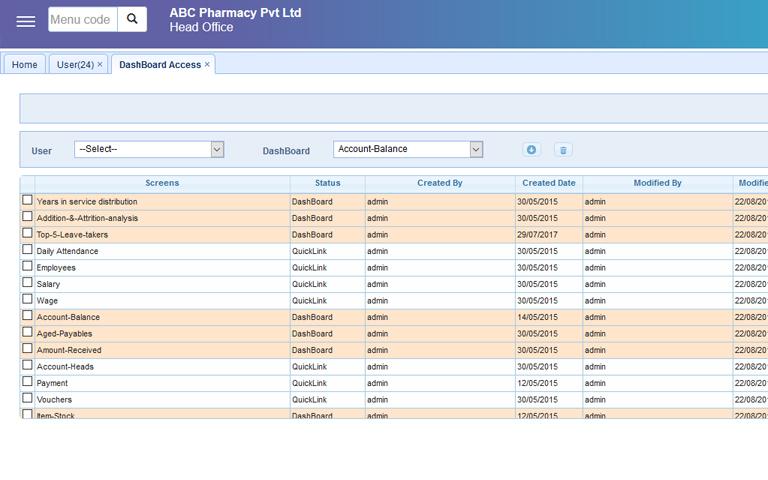 IPIX ERP - dashboard 4
