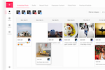 Viraltag screenshot: The social media calendar allows users to collaborate on post scheduling