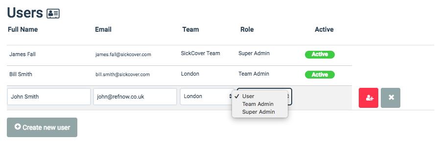 RefNow user management