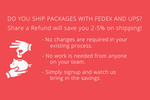 Share a Refund screenshot: Save 2-5% on shipping with Share a Refund