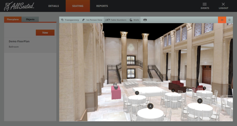 AllSeated 3D view