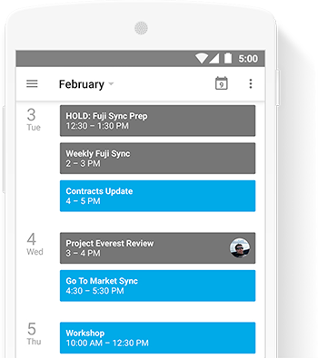 Schedule teams efficiently with integrated, online, shareable calendars