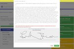 projectquoting.com screenshot: Collect electronic signatures