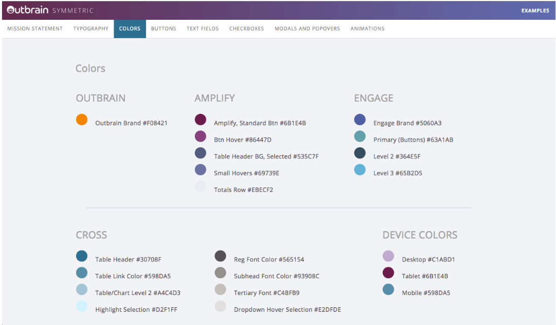 Outbrain Software - Choosing colors