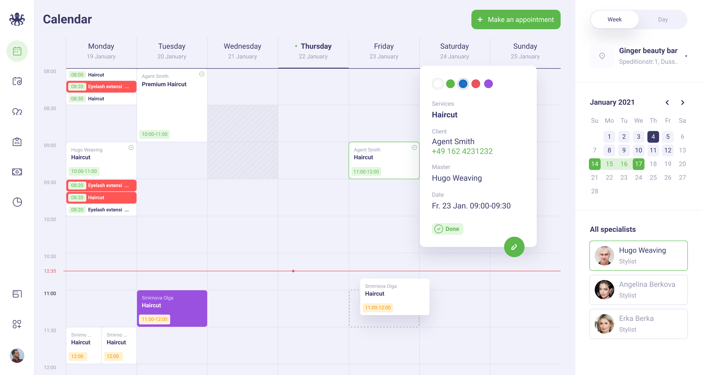 EasyWeek meeting booking calendar