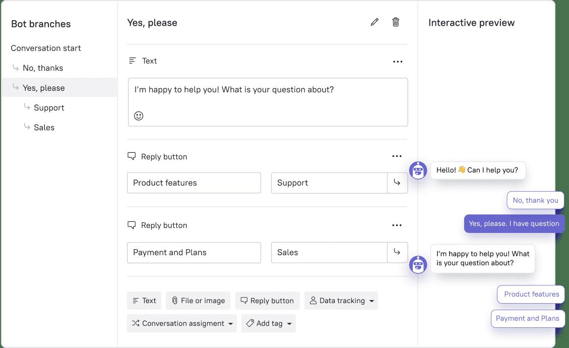 Leadbot settings