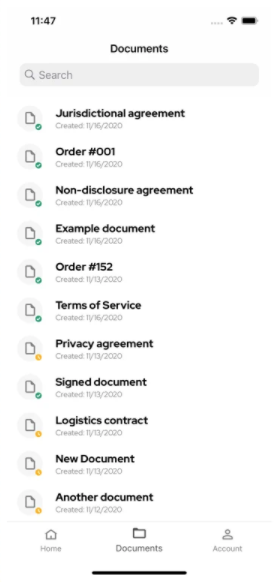 .ID stored documents