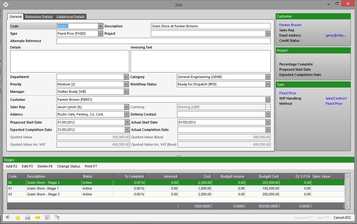 Intact iQ Software - Job costing