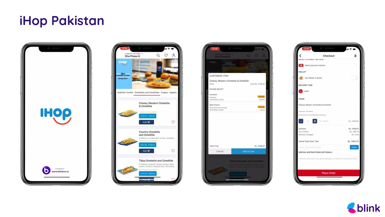 IHOP Pakistan - Mobile App powered by Blink
