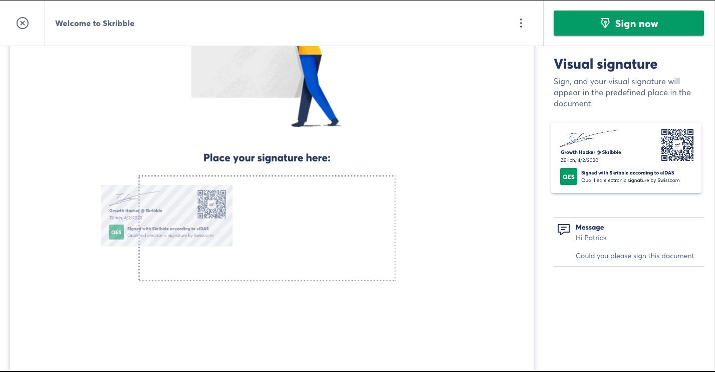Skribble drag-and-drop interface