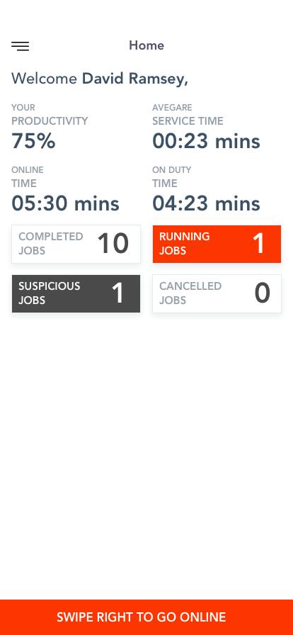 Porter App - Home Screen