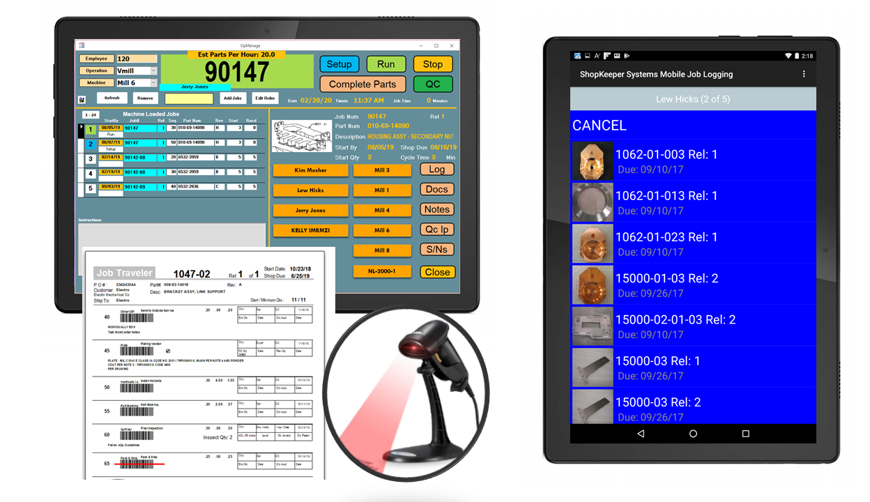 Shop-floor barcode and mobile data collection