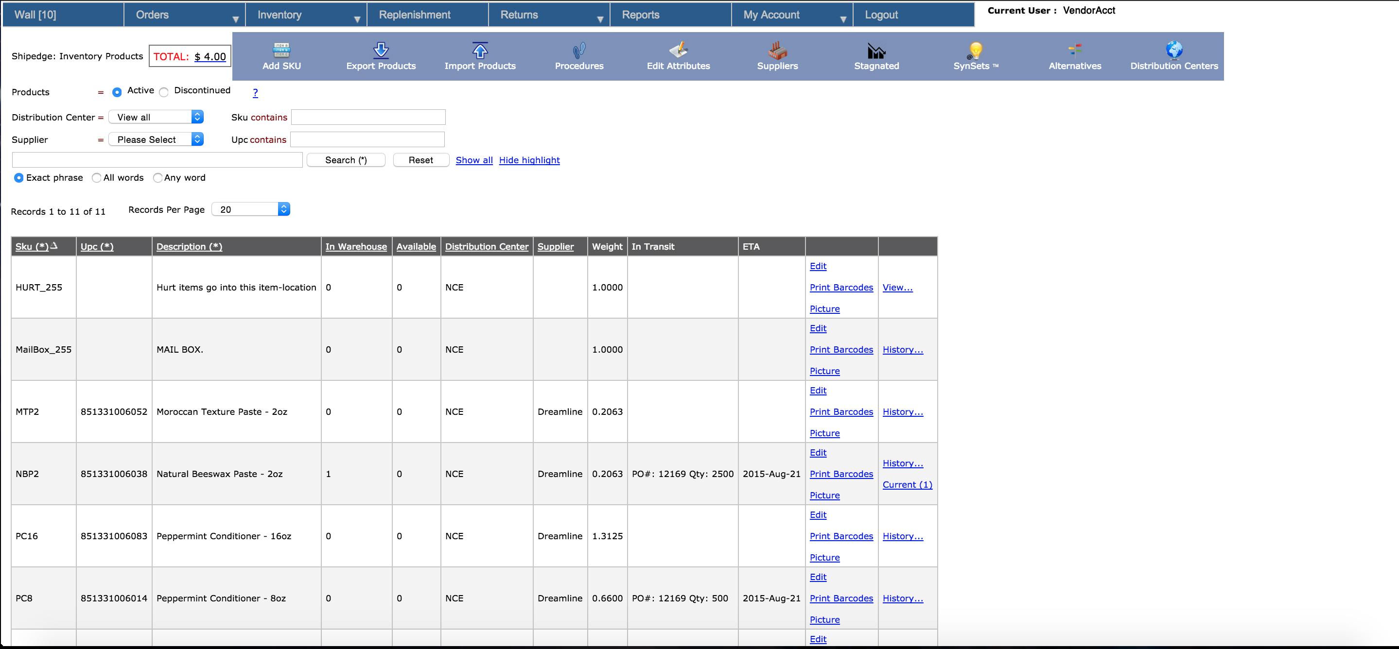 Shipedge Software - Inventory management