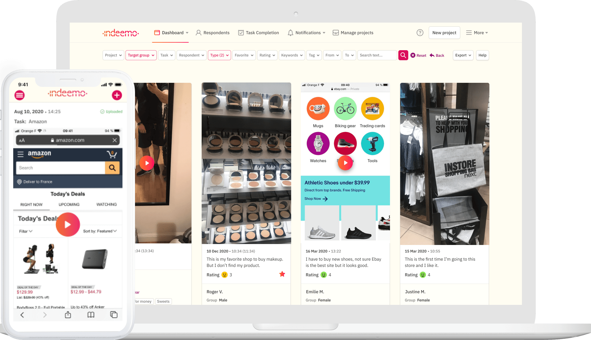 Indeemo Easy to Use Intuitive UI/ UX