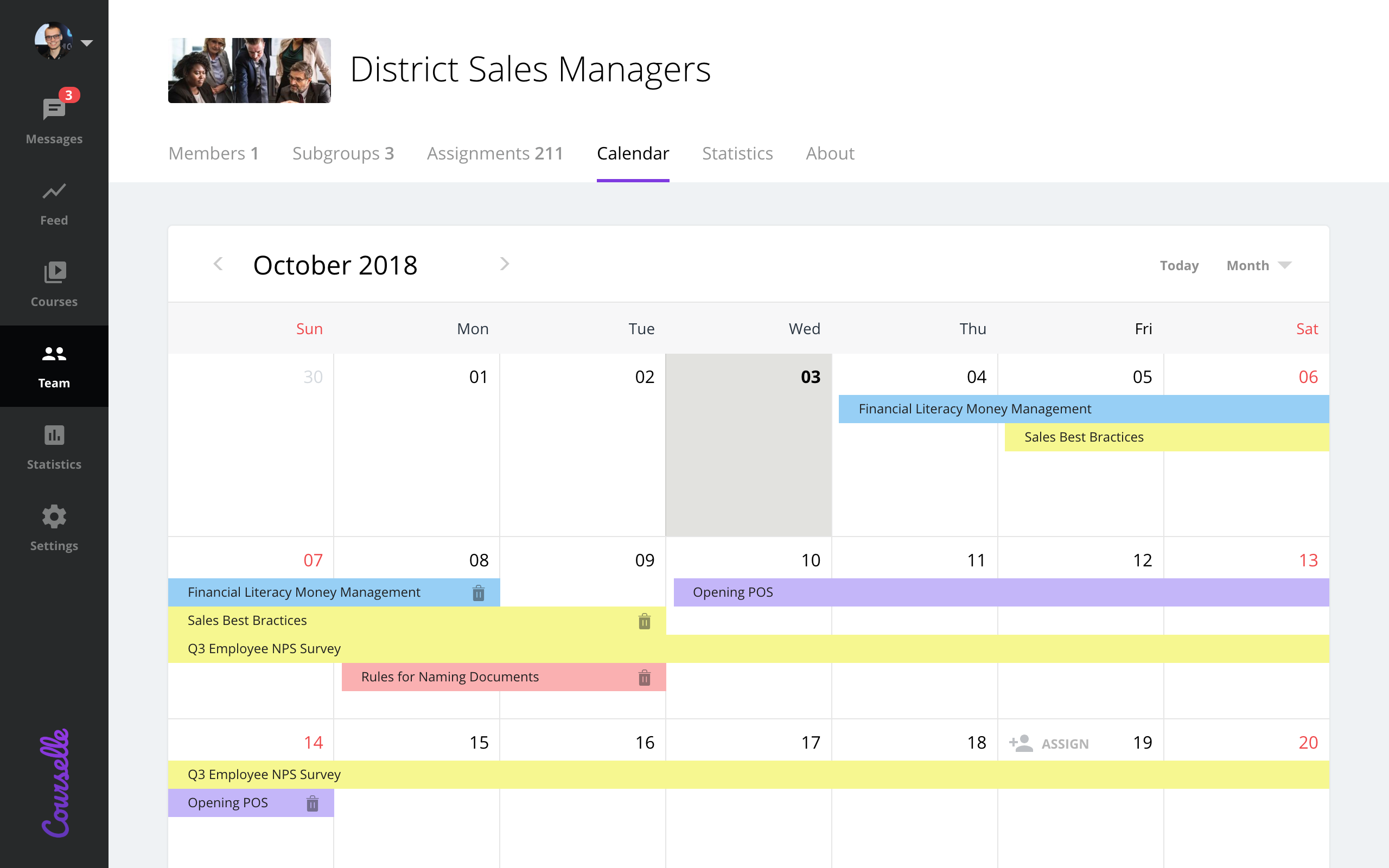 Geenio screenshot: Personal and group-level calendar helps to organize training schedule for the best performance and optimal load.