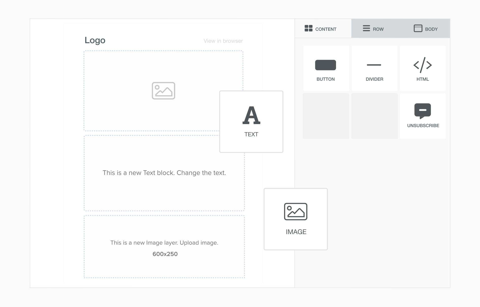 User.com Software - User.com drag-and-drop functionality