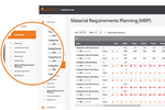 Business Cloud Essentials screenshot: The requirements planning module helps users match stock and demand