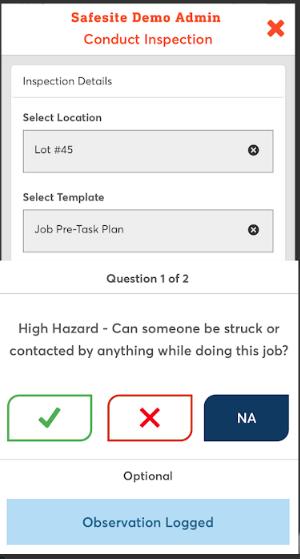 Safesite inspection checklist