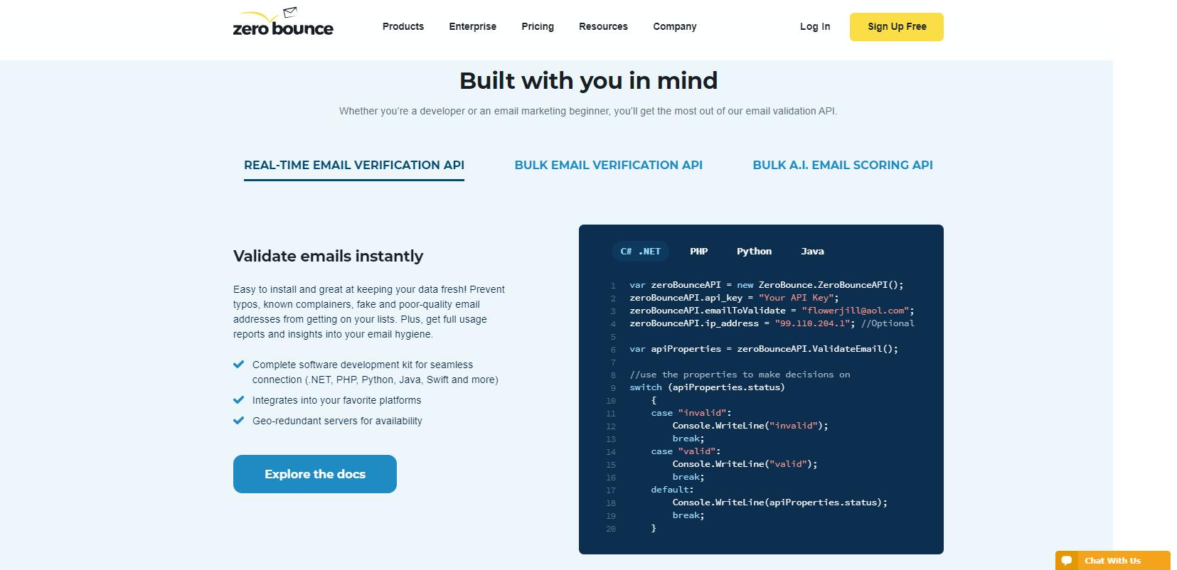ZeroBounce API