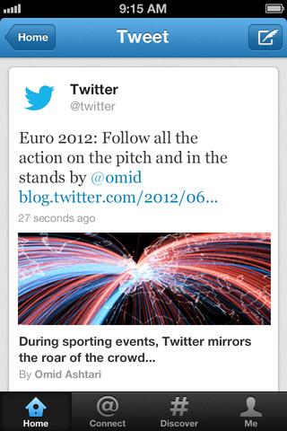 Twitter screenshot: Twitter mobile app