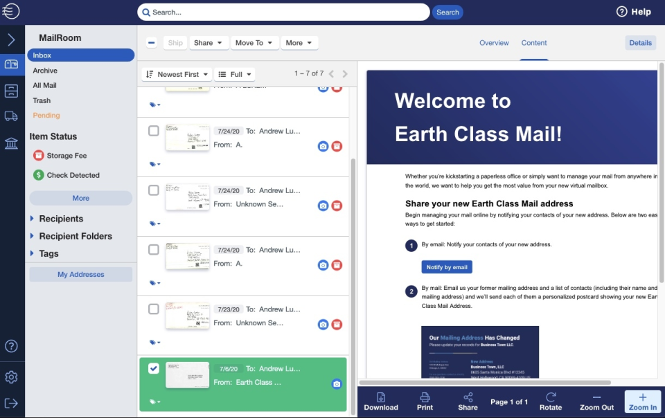 Earth Class Mail Software - 2